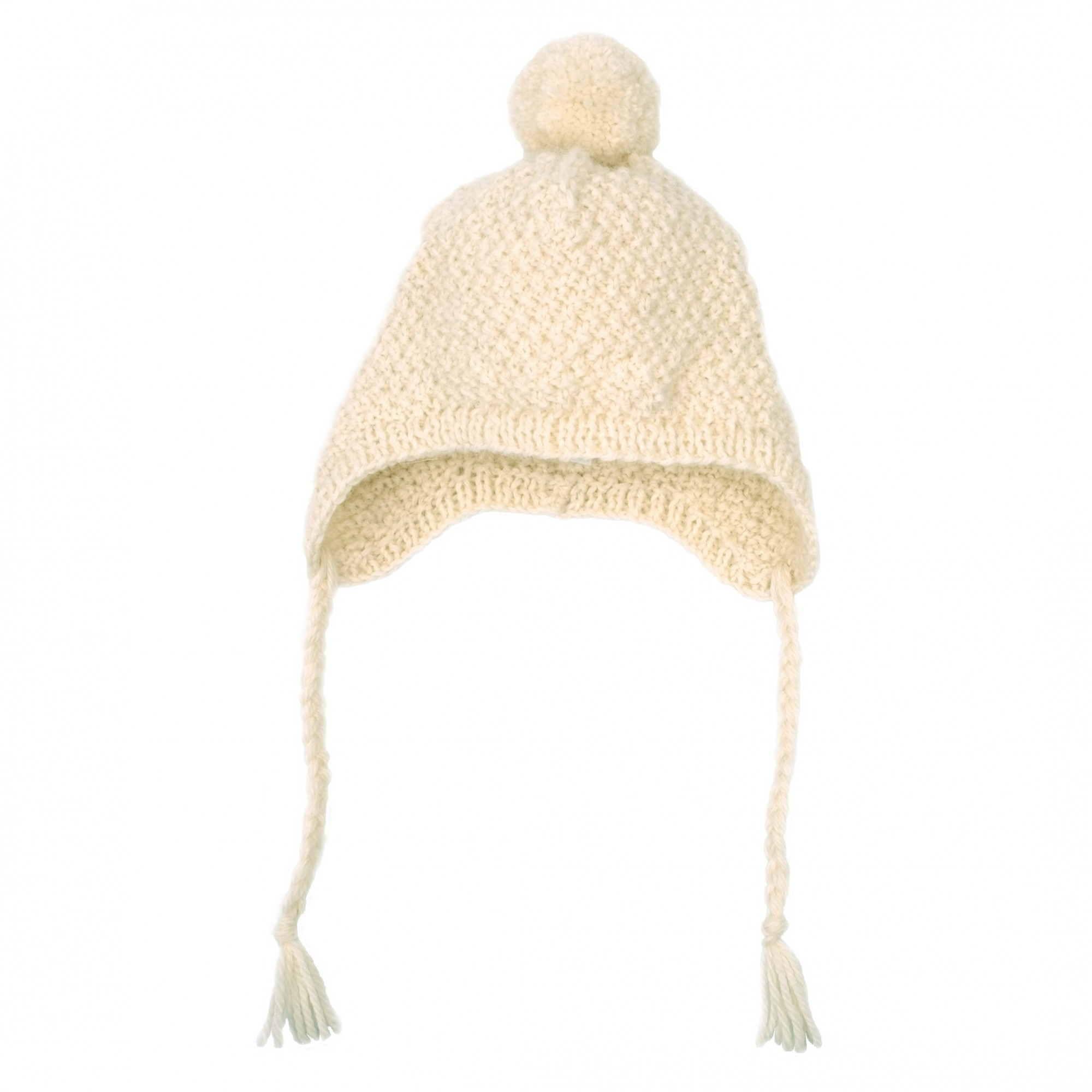 d9ba8a75338 Emile cap for baby - Natural white color - hand knitted made from wool and  alpaca