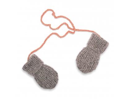 Moufles Fernand pour bébé -coloris gris et rose - mérinos et angora