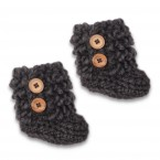 Eglantine boots anthracite color wool alpaca