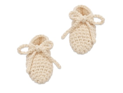 Raymond slippers for baby - natural white color - made from cotton
