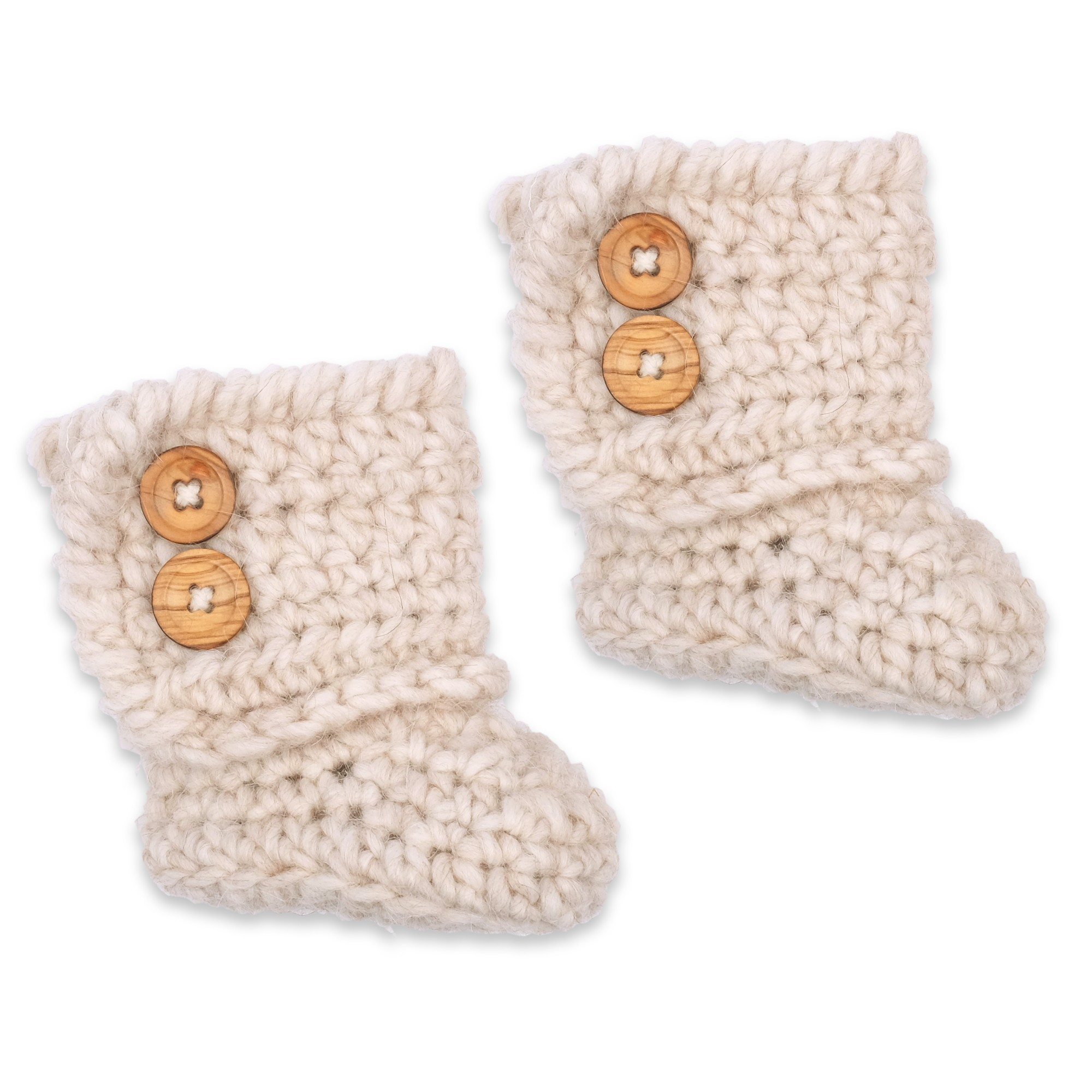 Célestine boots for baby - beige color