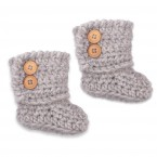 Célestine boots for baby - grey color