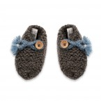 Joseph slippers for baby - anthracite and blue colors