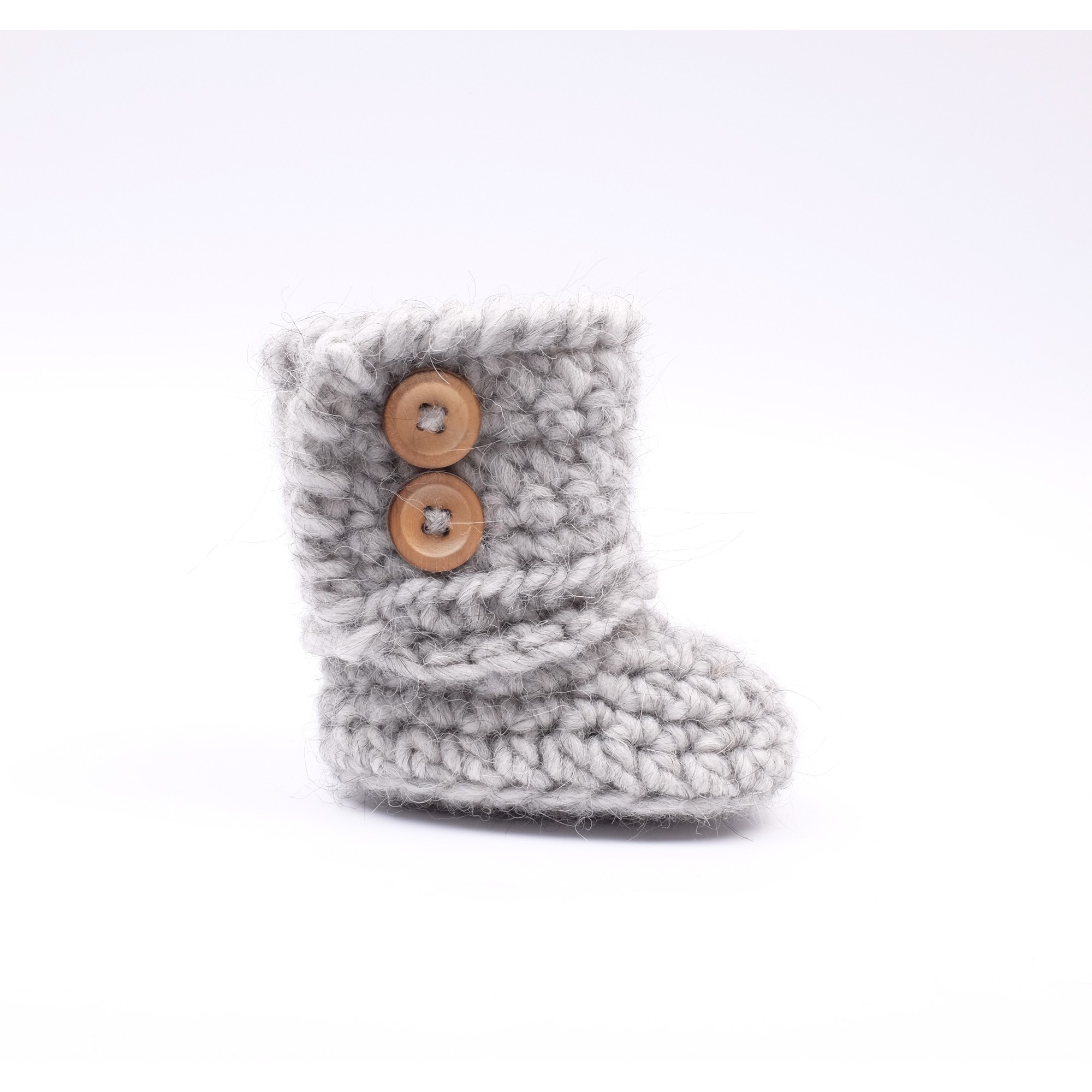 Célestine boot for baby - grey color - right side