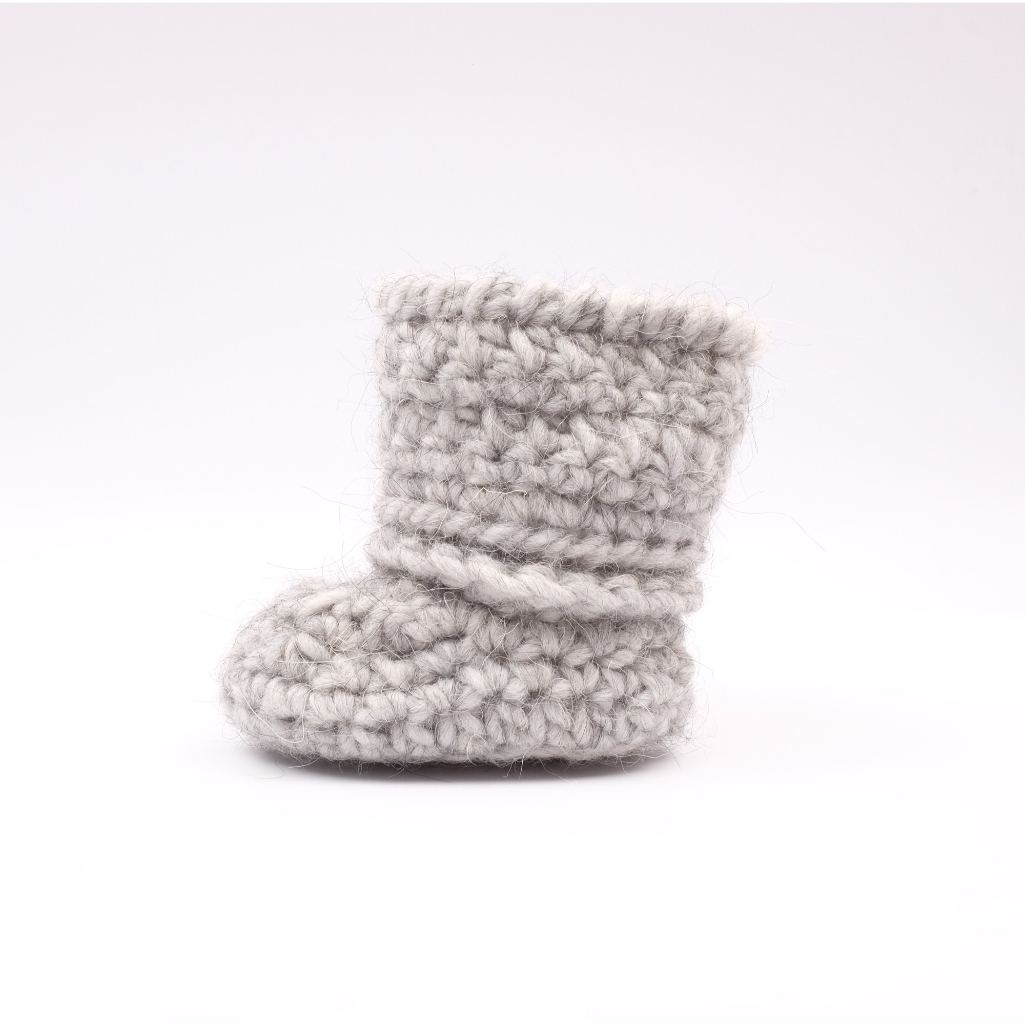 Célestine boot for baby - grey color - left side