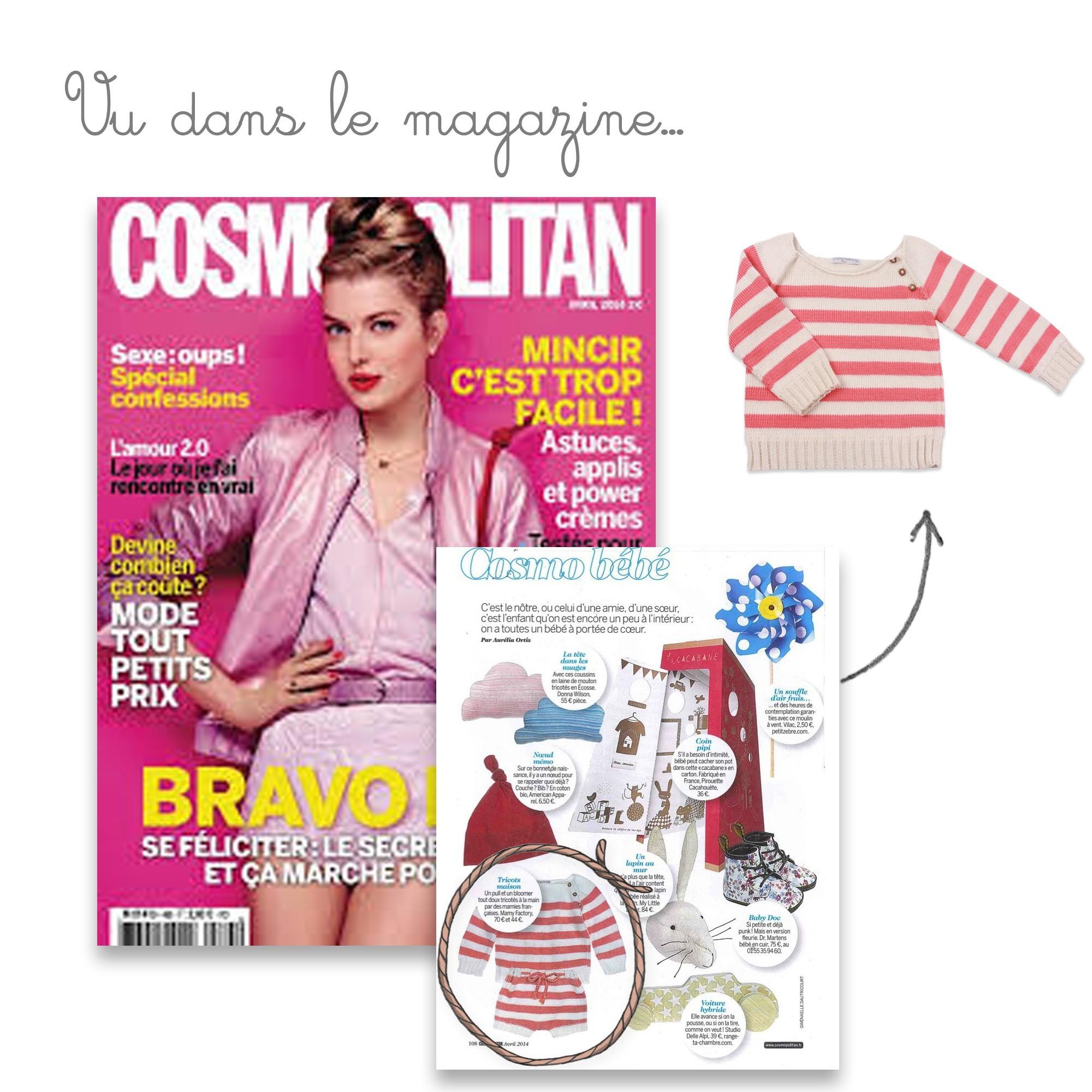 Pull Gaspard vu dans le magazine Cosmopolitan