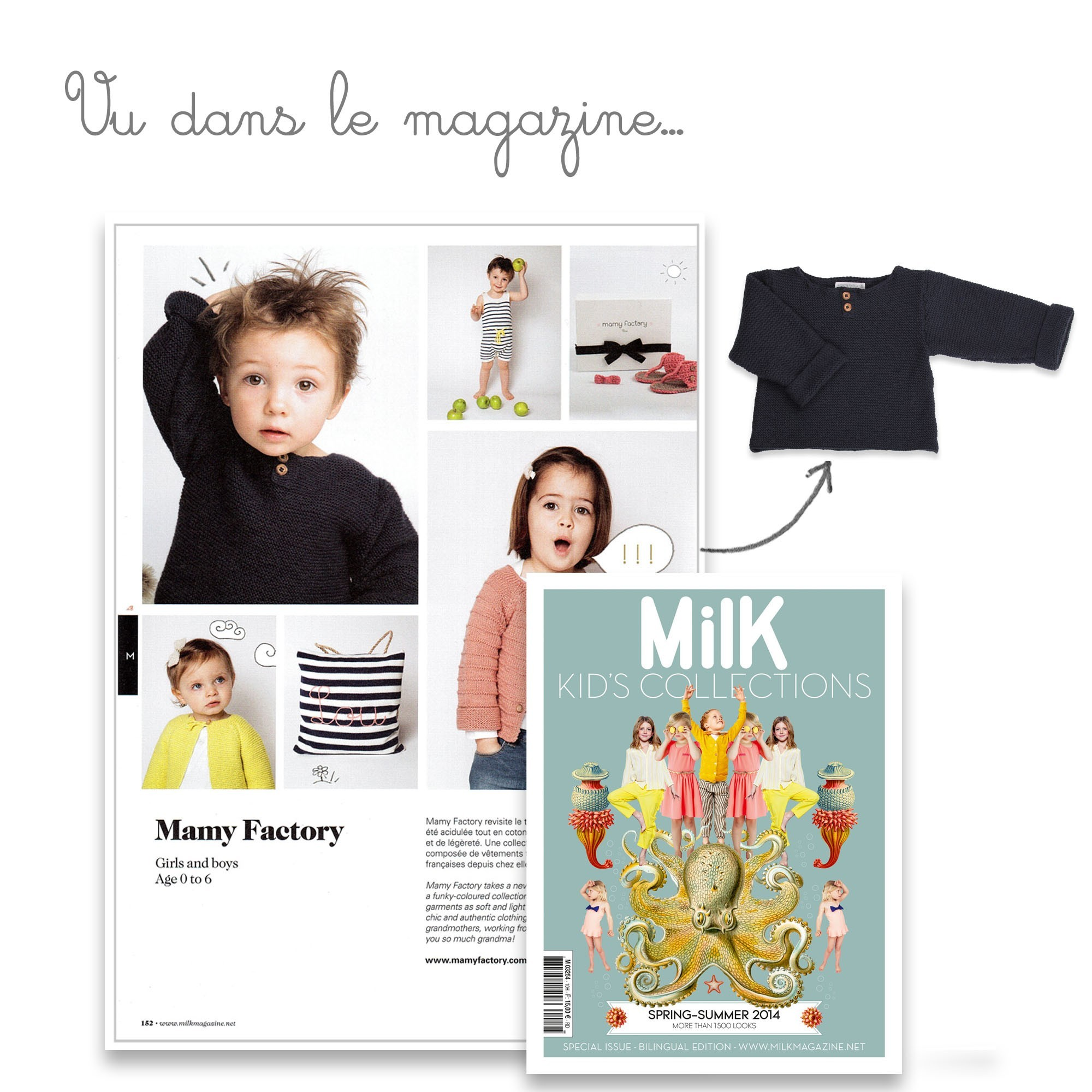 Anatole sweater seen in the magazine Milk Kids Collection