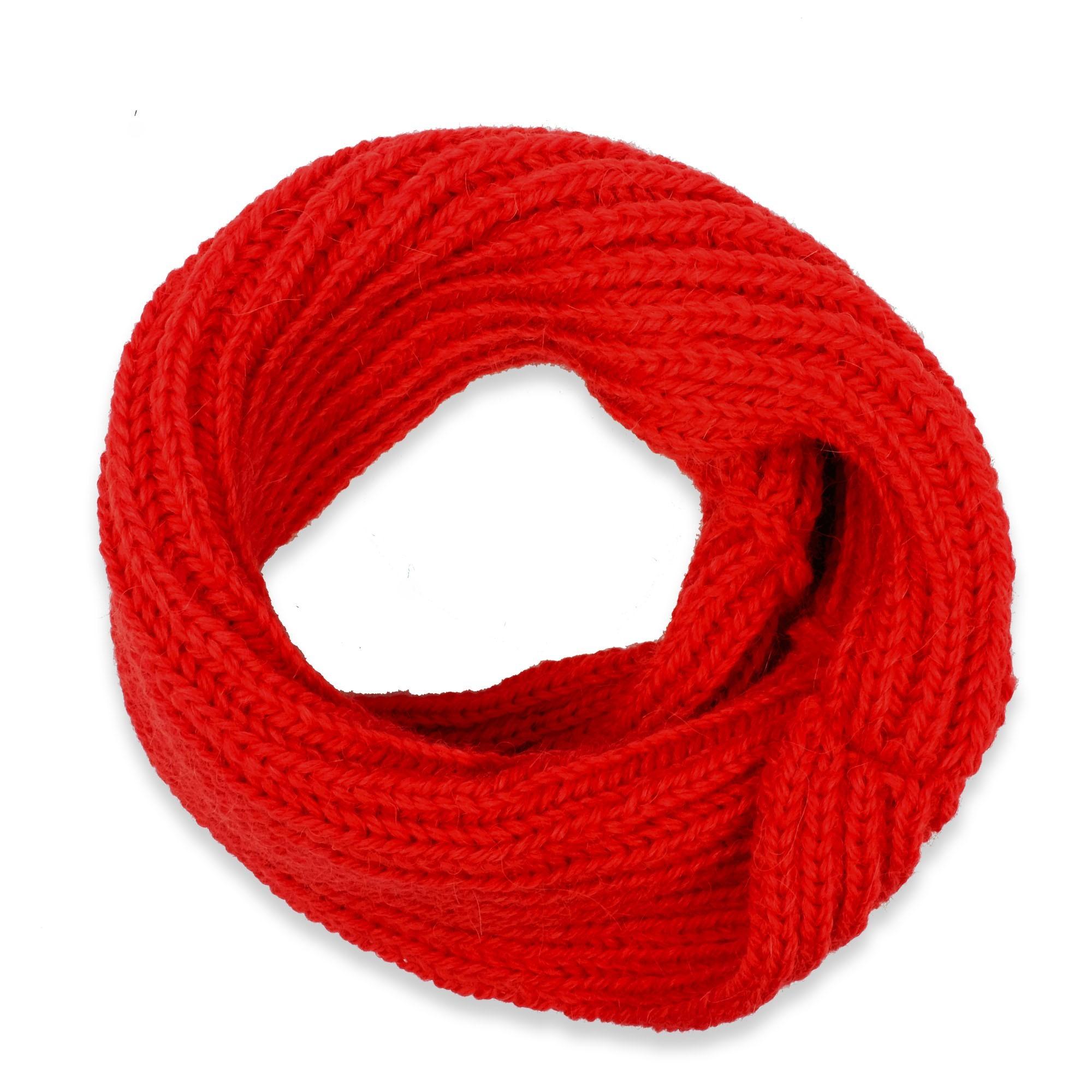 Les tricots de mamy - Echarpe tour de cou   snood rouge enfant en 60 ... 8f920db9c1d