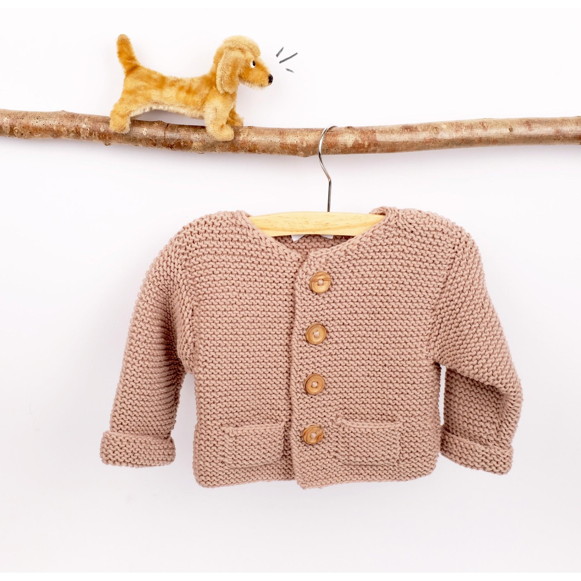 Gilet Simone en laine - coloris taupe