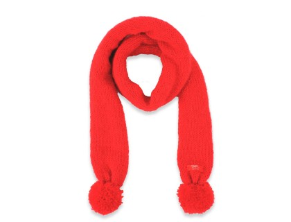 Emile scarf for baby - red color - wool and alpaca