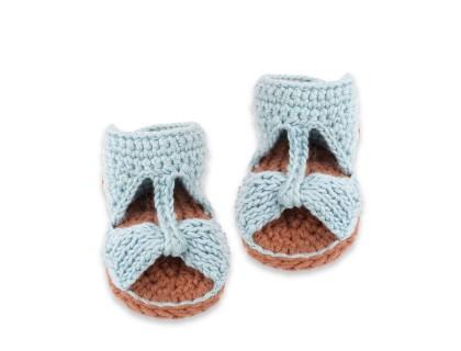 Sandales Jeannette pour bébé - bleu ciel