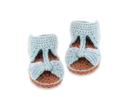 Jeannette sandals for baby - Sky blue color
