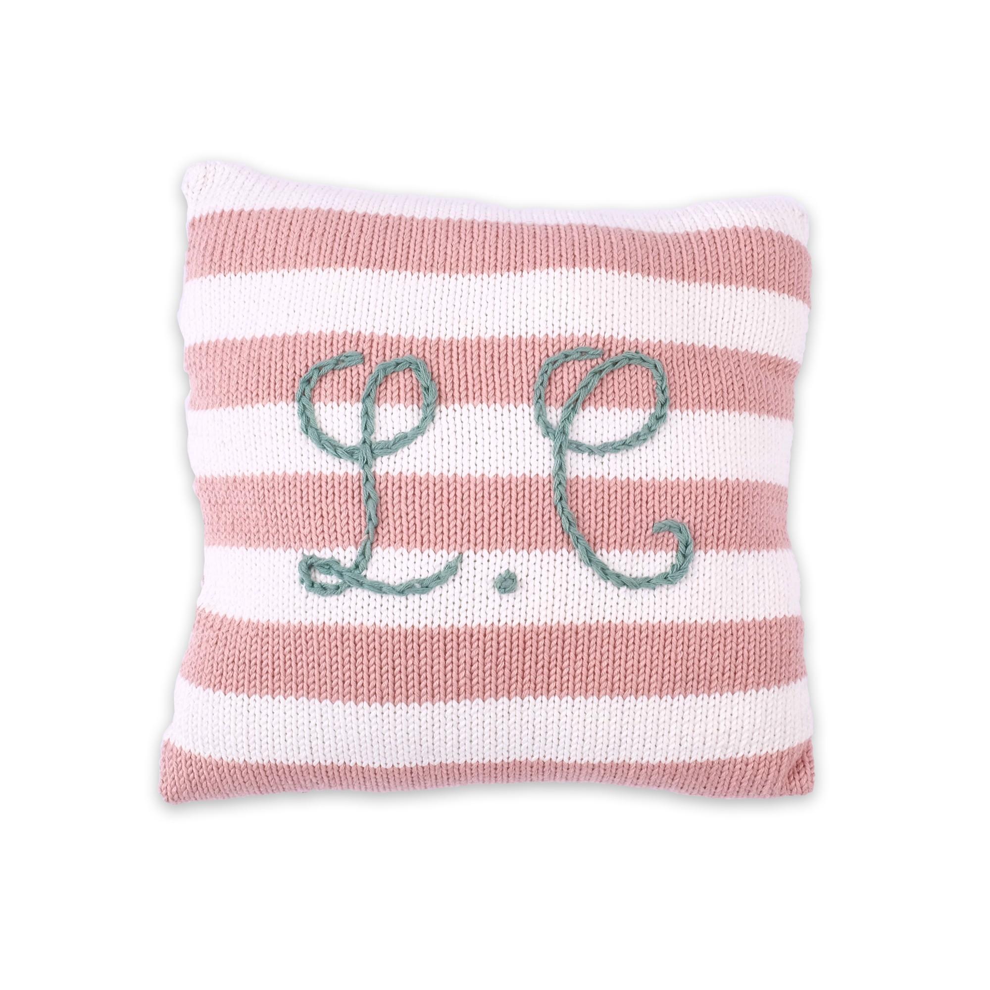 58e0895ee7554 Cadeaux de naissance à personnaliser - Coussin tricot rose et blanc ...