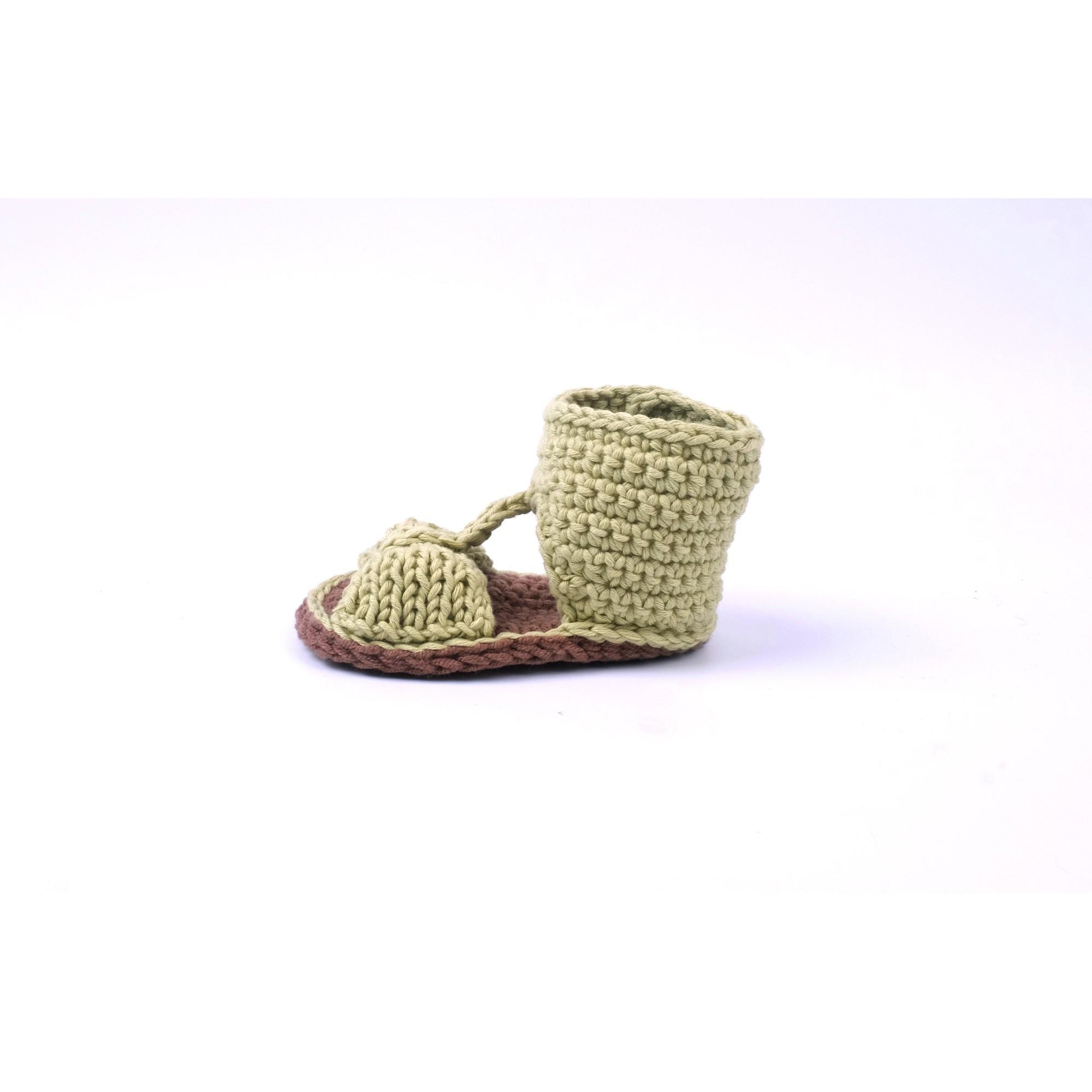 Sandale Jeannette verte tricotée pour bébé - autre vue