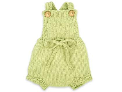 Félicie rompers made from 100% cotton. Pistachio green