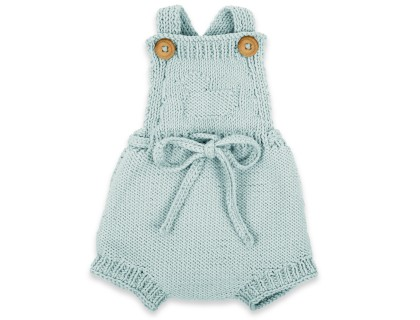 Félicie rompers madre from 100% coton - sky blue color
