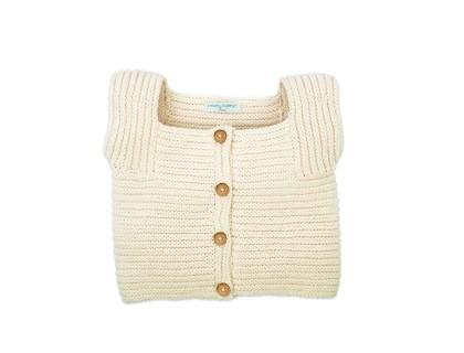 Gilet Edgar pour bébé - coloris écru - en coton