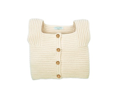 Edgar Cardigan for baby - natural white - made from cotton