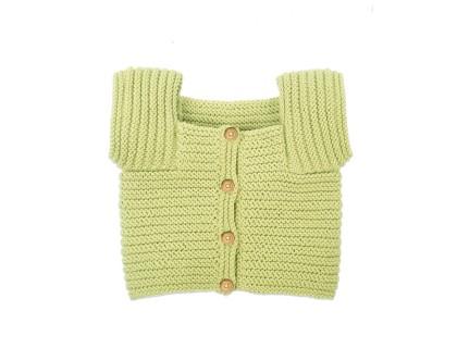 Gilet Edgar pour enfant - coloris vert pistache - en coton