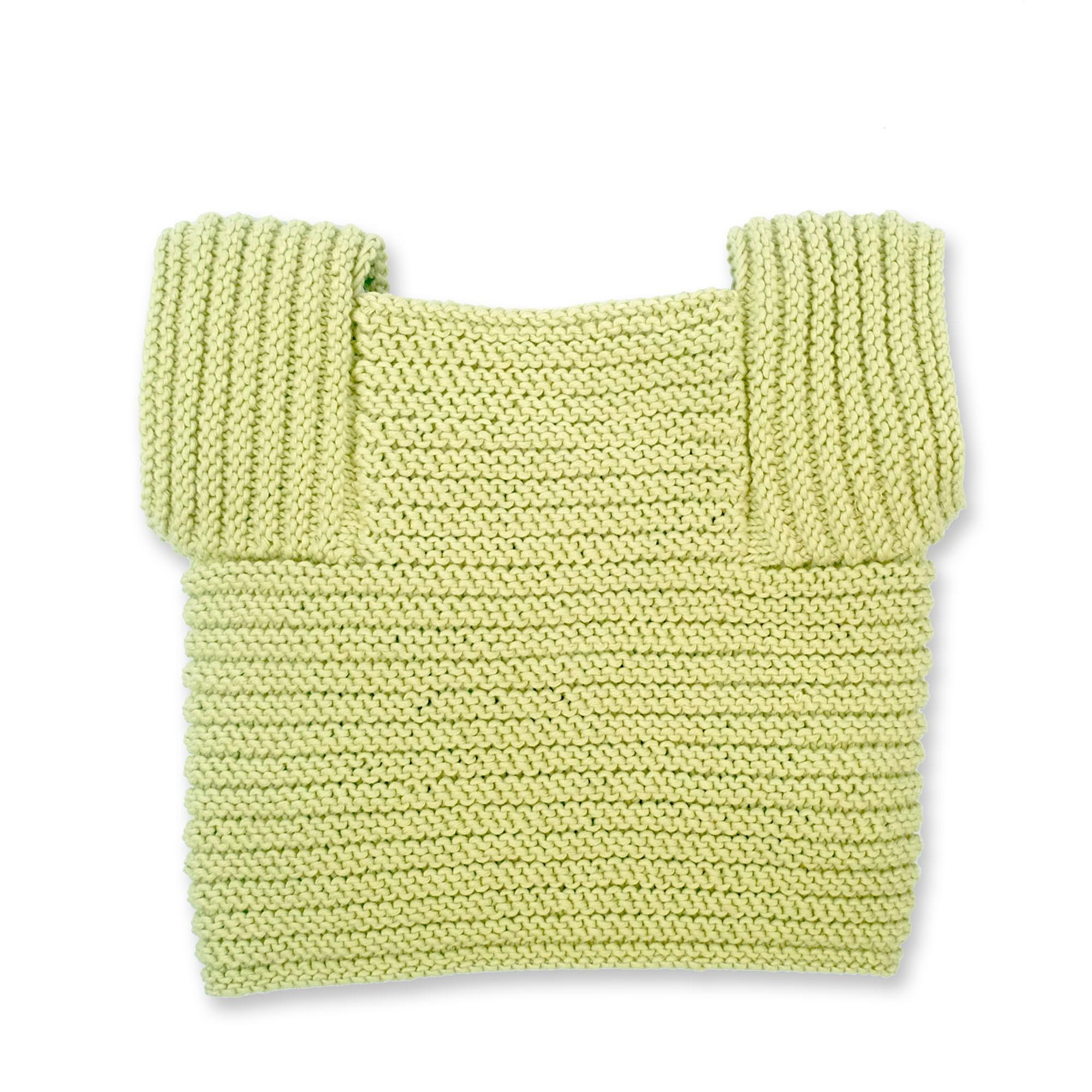 Gilet Edgar pour enfant - coloris vert pistache - vue de dos