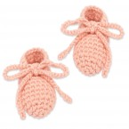 Raymond slippers for baby - Dragee pink - made from cotton