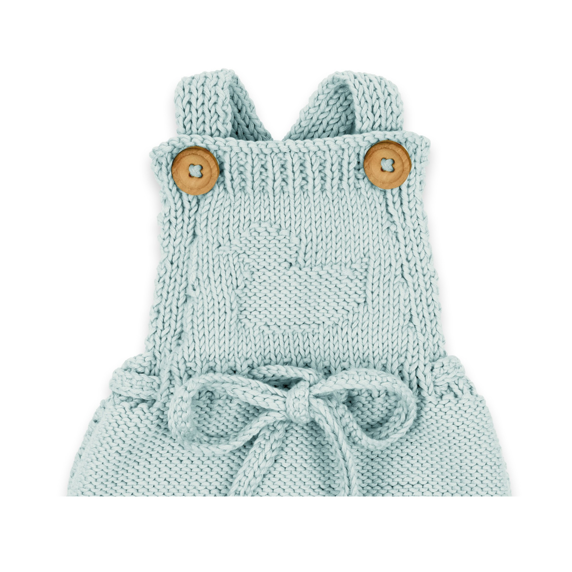 Félicie rompers for baby - sky blue color - detail