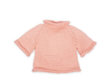 Germain sweater for baby - dragee pink color - cotton