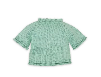 Germain sweater for baby - mint blue color - cotton
