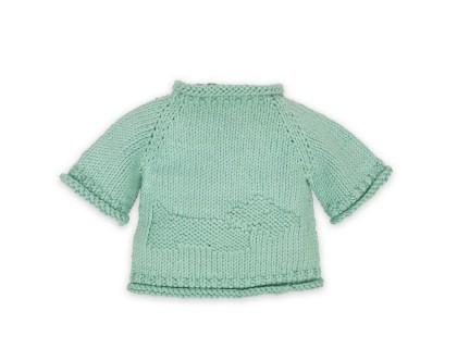 Pull Germain pour bébé - coloris bleu menthe - en coton