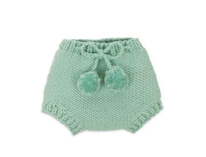 Bloomer Germain pour bébé - coloris bleu menthe - en coton