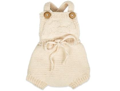 Barboteuse Félicie pour bébé - coloris écru - en 100% coton