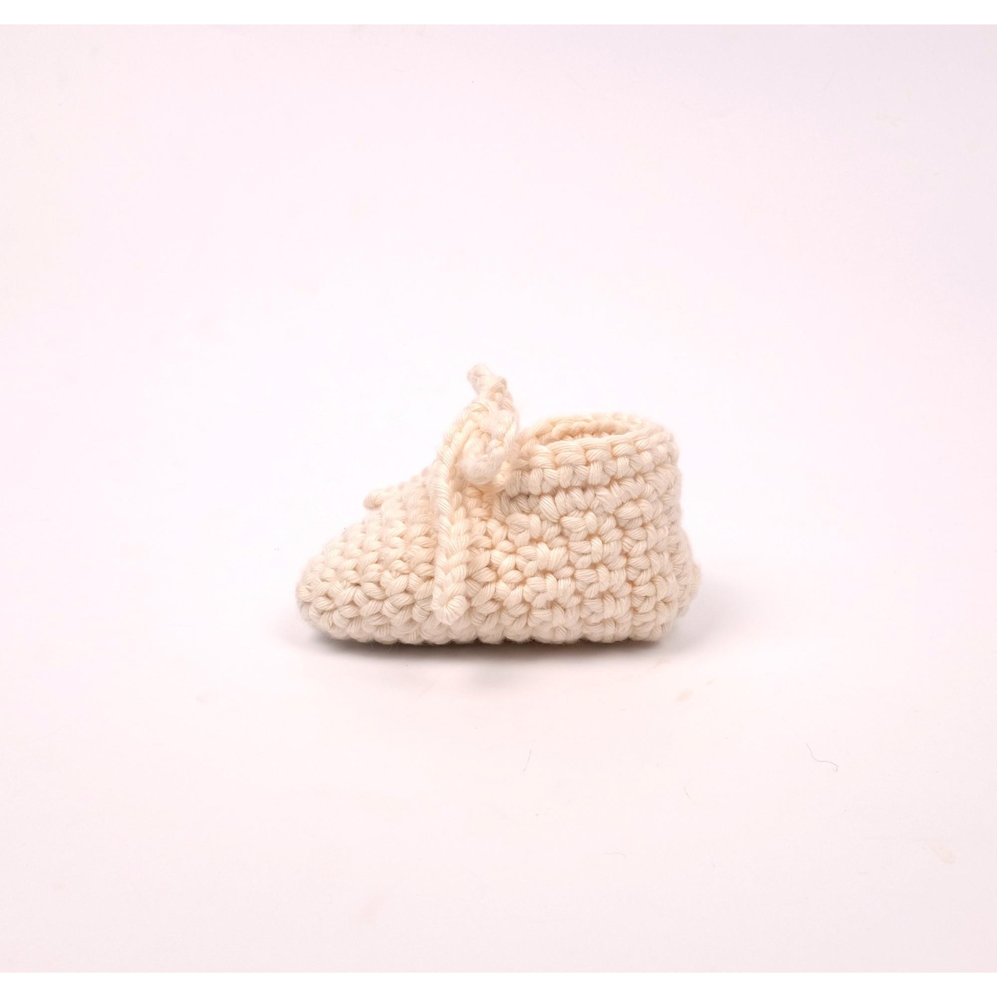 Chaussons Raymond pour bébé - coloris écru - autre vue