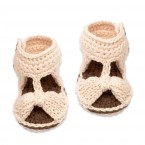 Jeannette sandals for baby - natural white color - made from cotton