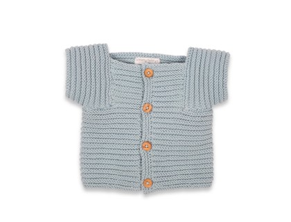 Edgar Cardigan for kid - sky blue color - 100% cotton