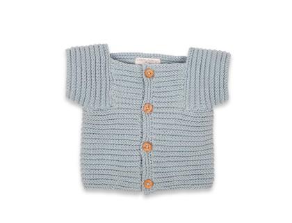 Gilet Edgar pour bébé - coloris bleu ciel - 100% coton