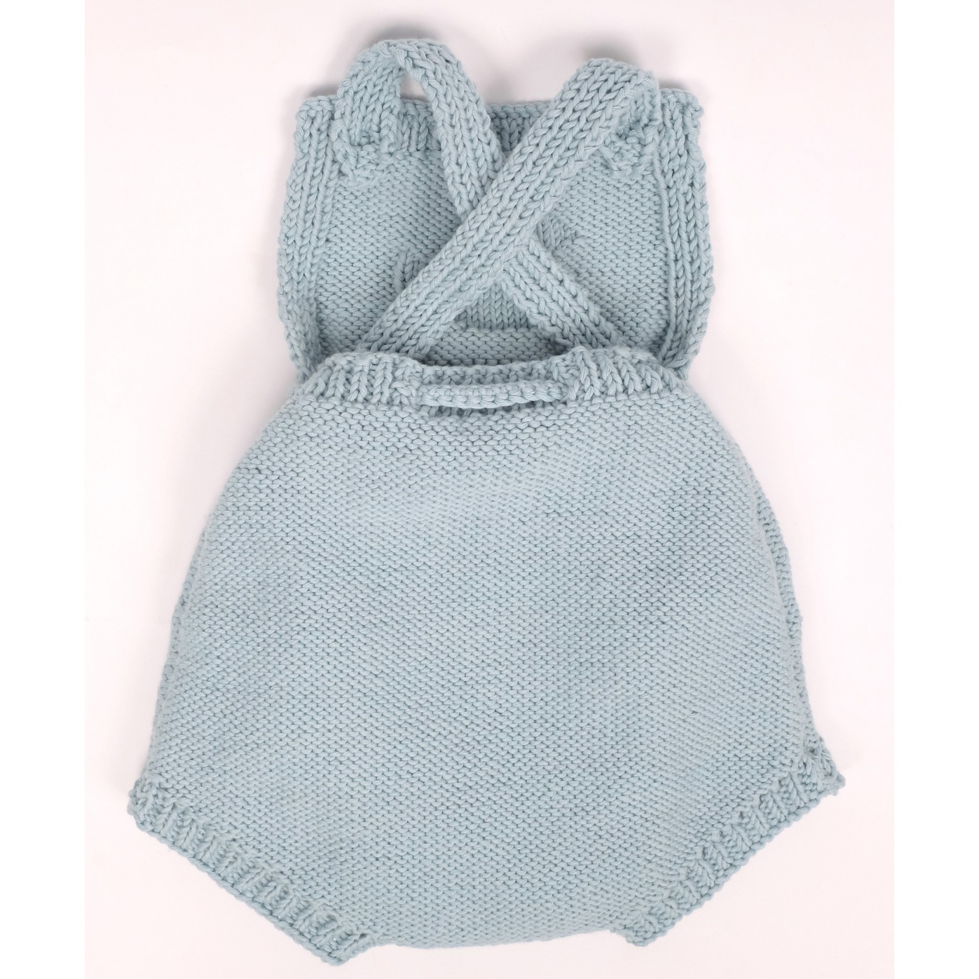Félicie rompers for baby - sky blue color - The back