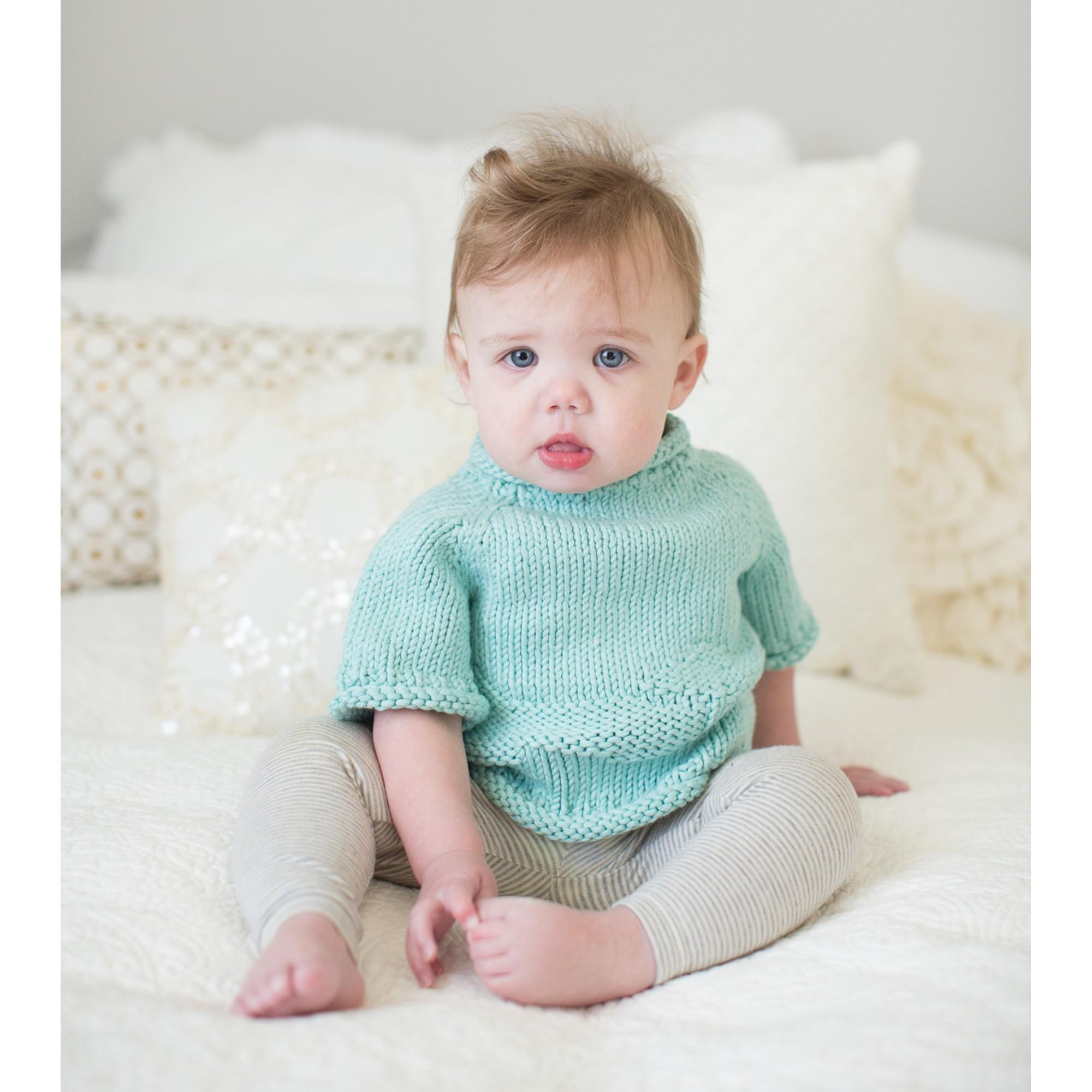 Pull Germain pour bébé - coloris menthe - porté