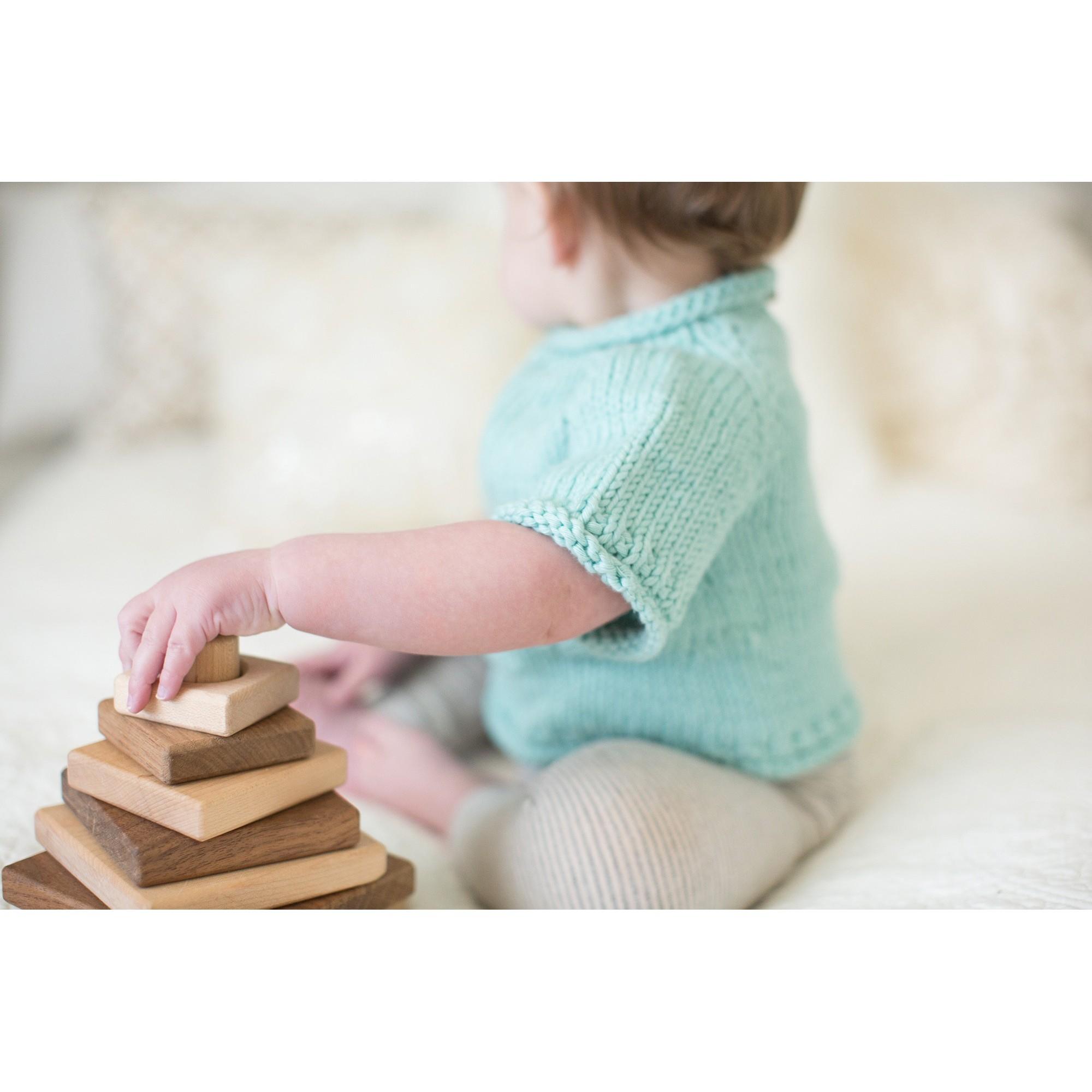 Pull Germain pour bébé - coloris menthe - porté (autre vue)