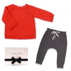 Gift box included in the gift set with the Georges sweater and the anthracite jogging-sarouel