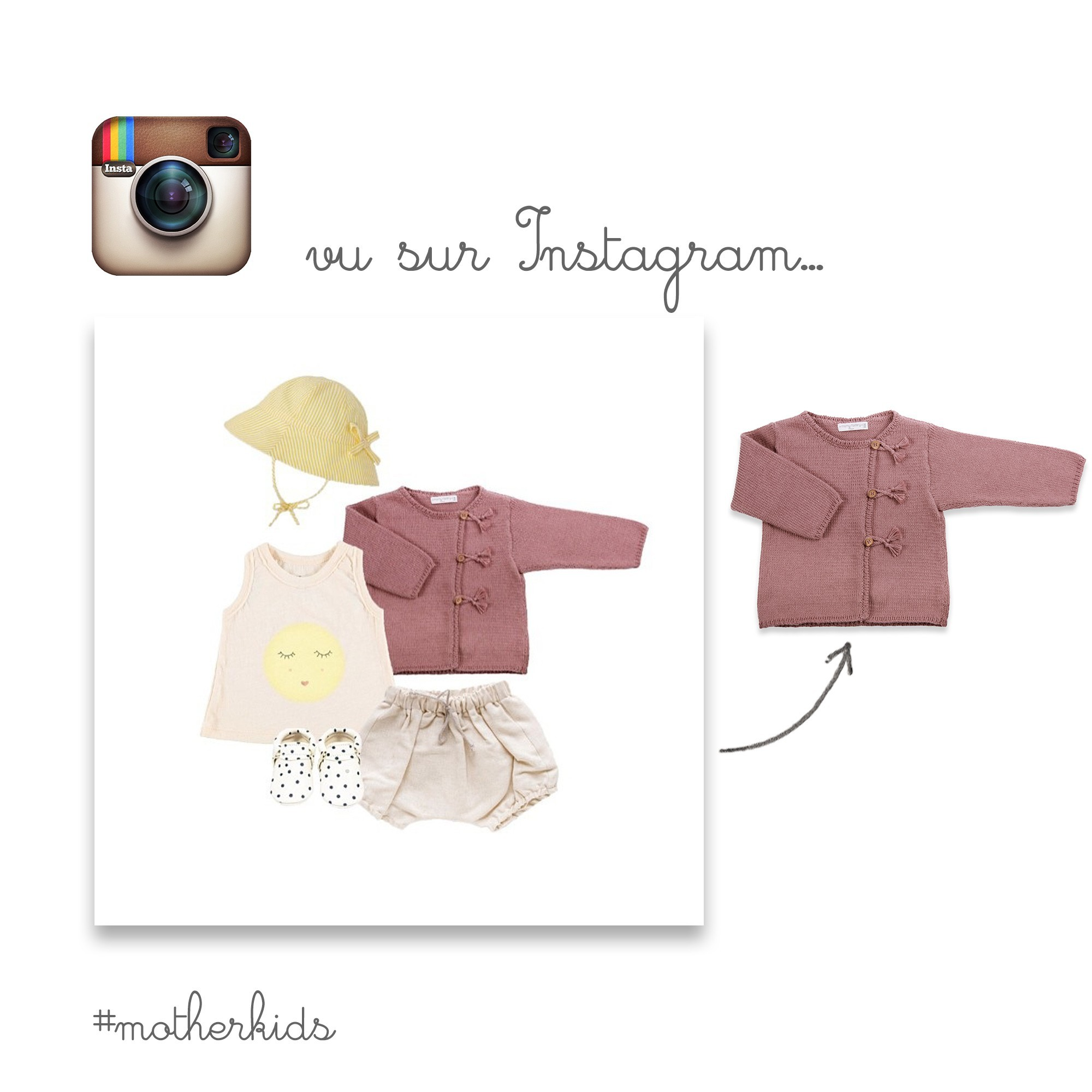 Marcel cardigan for baby - seen on Instagram