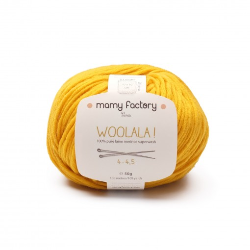 Laine naturelle Woolala - Mamy Factory - Bouton d'or