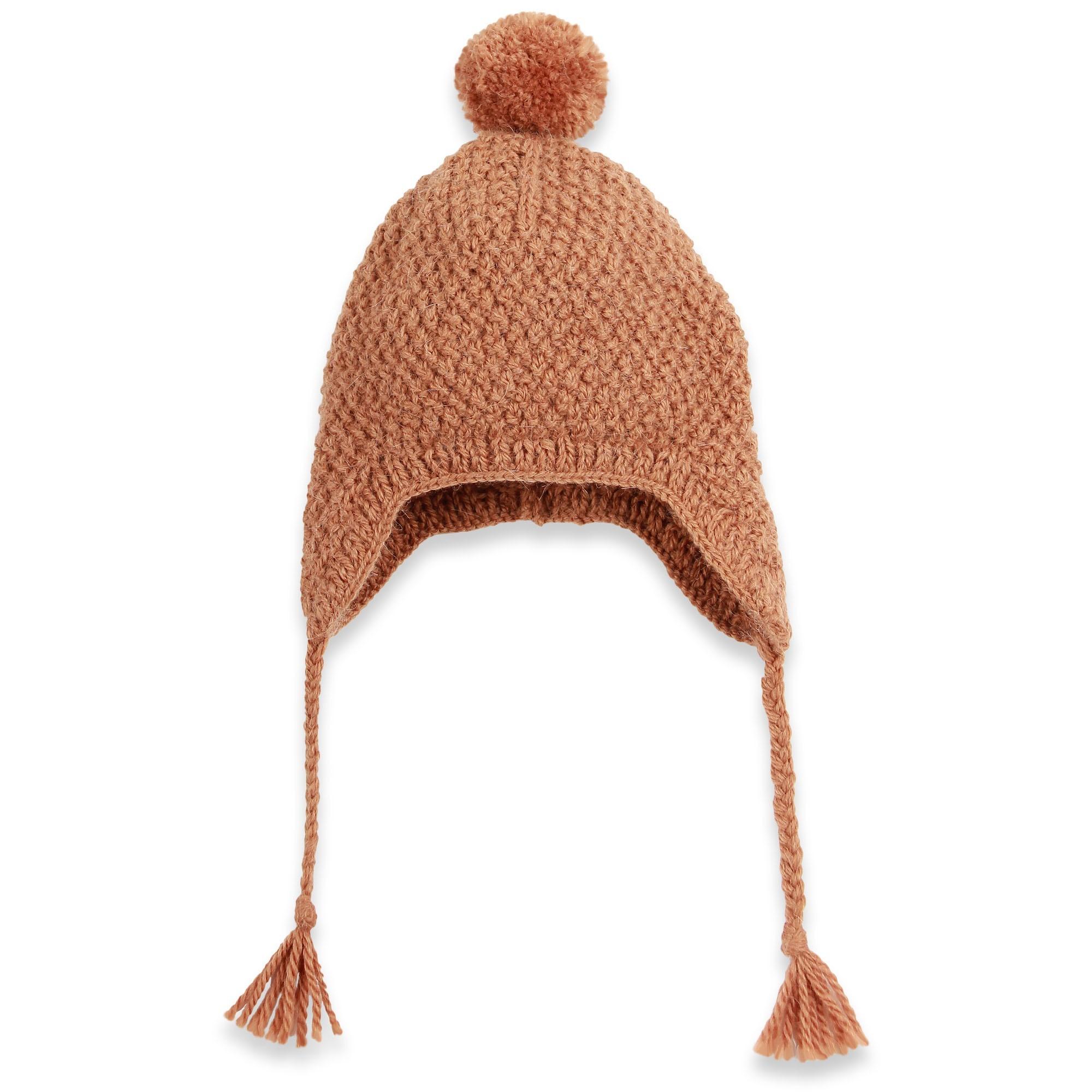 Bonnet camel b b enfant tricot main par mamy en for L univers de la laine