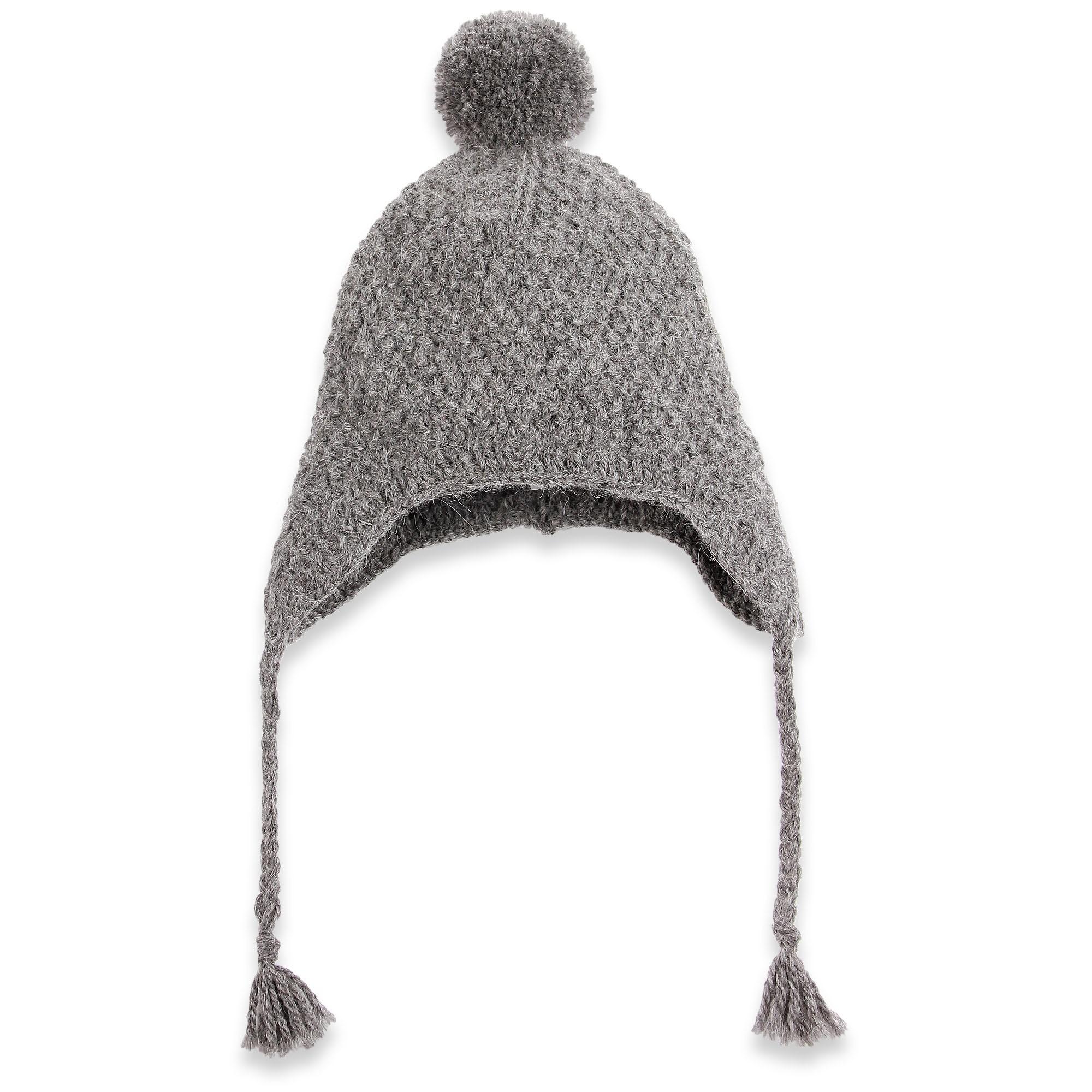 bonnet b b gris couvre nuque oreilles tricot par nos mamies. Black Bedroom Furniture Sets. Home Design Ideas