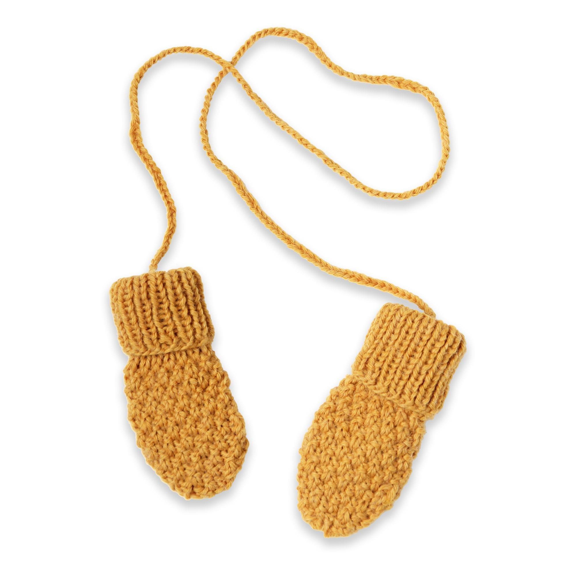 Gants   moufles bébé jaune en laine et alpaga tricoté au point de blé 6685db66d2c