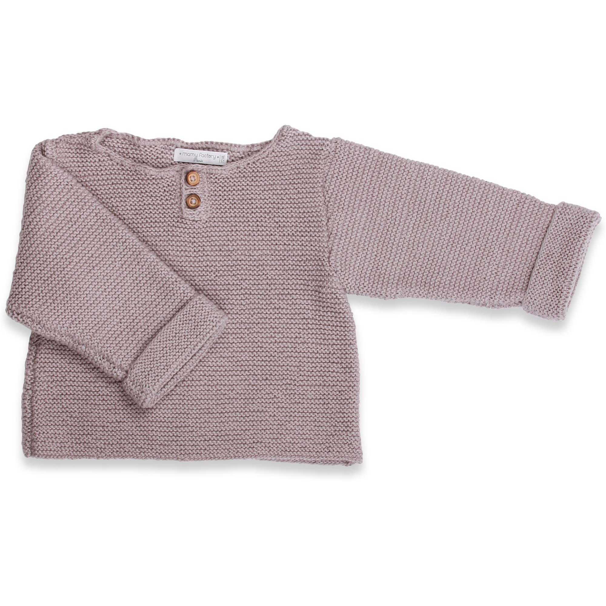 Grannys knitwear - Grey sweater for babies & children knitted by gra...
