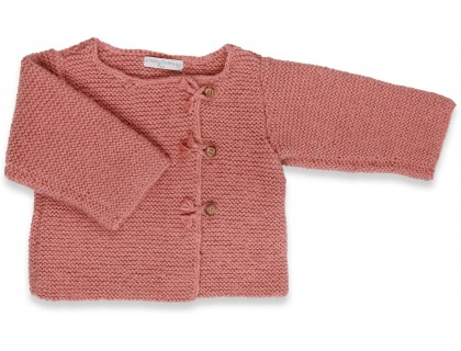 Granny S Knitwear Old Pink Baby Toddler Cardigan Knitted