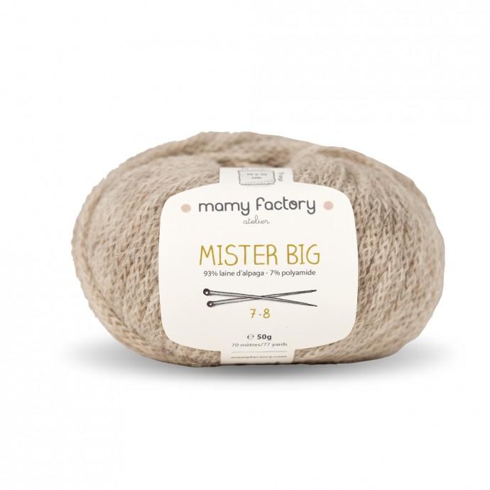 Laine naturelle Mister big - Mamy Factory - Beige