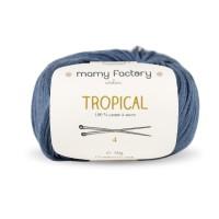Laine naturelle Tropical - Mamy Factory - Bleu Jean