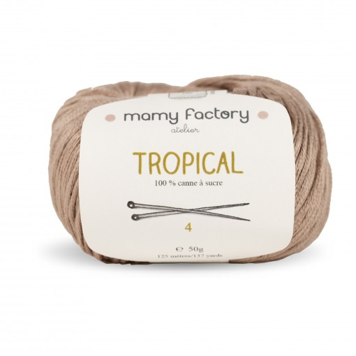 Laine naturelle Tropical - Mamy Factory - Chataigne