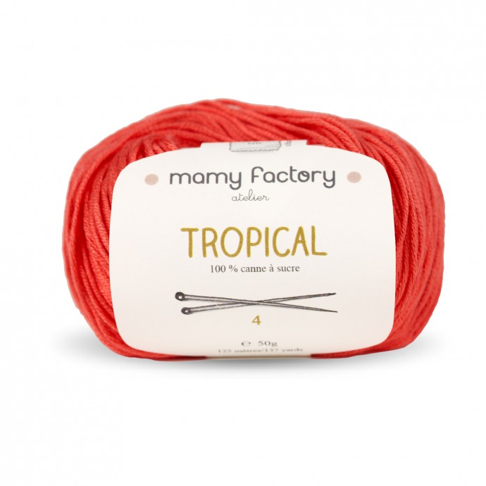 Laine naturelle Tropical - Mamy Factory - Framboise